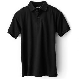 Kaos Polo Berkerah Hitam – Kerah Strip