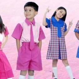 Baju Seragam Sekolah TK & SD Kotak – Kotak KBZ004