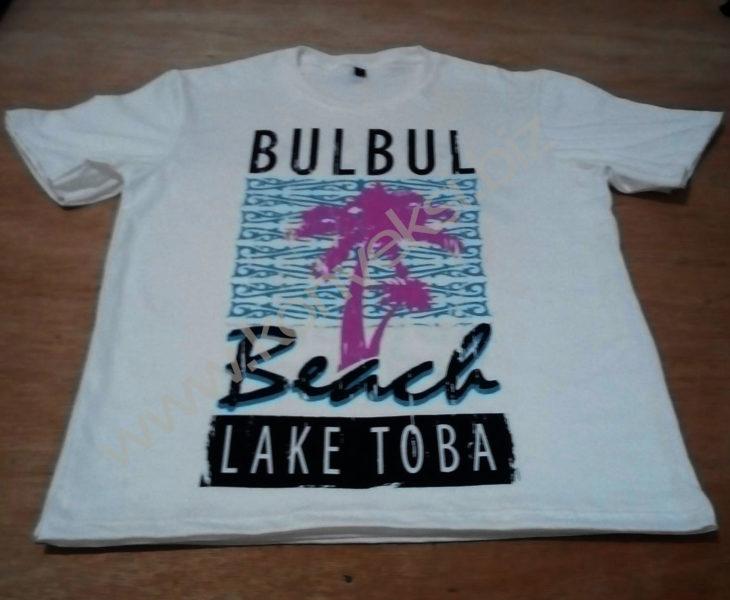 Kaos Souvenir Bul Bul Beach and Lake Toba