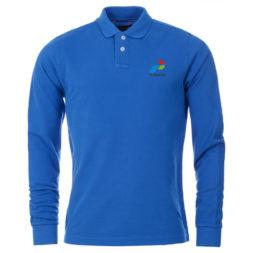 Kaos Olahraga Pria Berkerah Biru Lengan Panjang