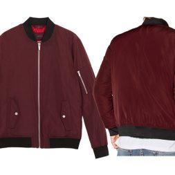 Jaket Bomber Merah Maroon