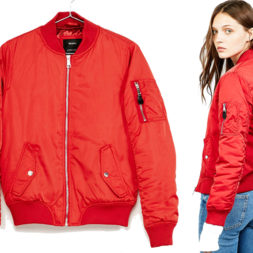 Jaket Bomber Wanita Merah