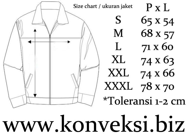 Size Chart Jaket