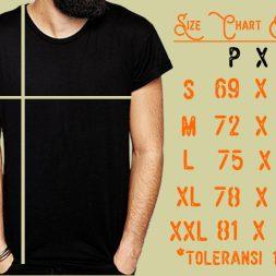 Size Chart Kaos Pria – Standar Ukuran Kaos Indonesia