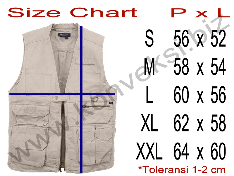 Vest Size Chart