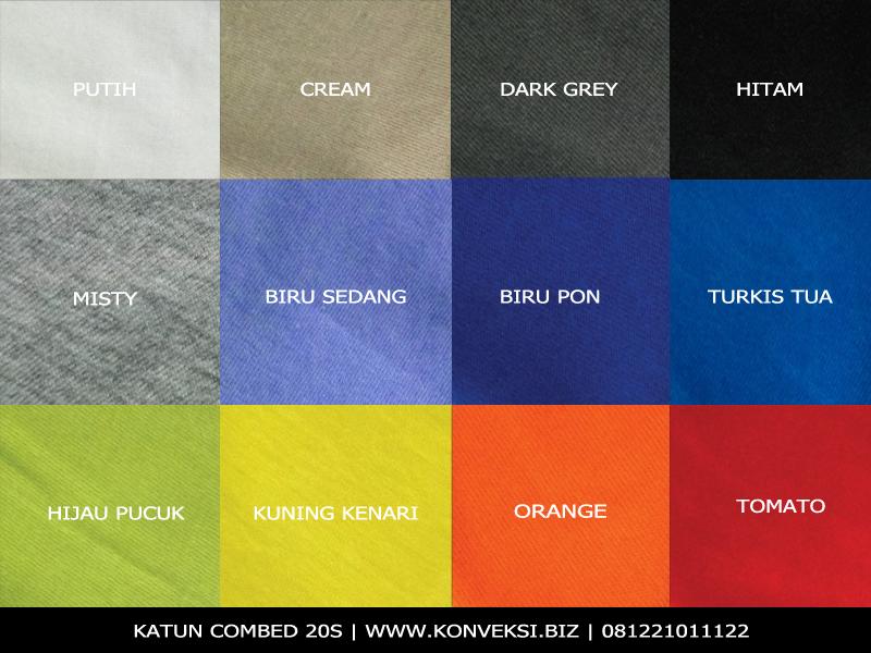 Katalog Warna Cotton Combed