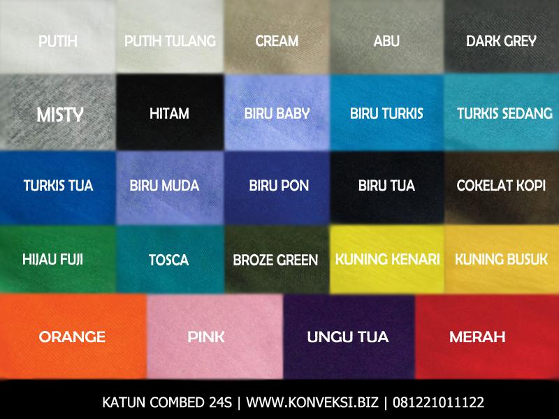 katalog warna cotton combed 24s