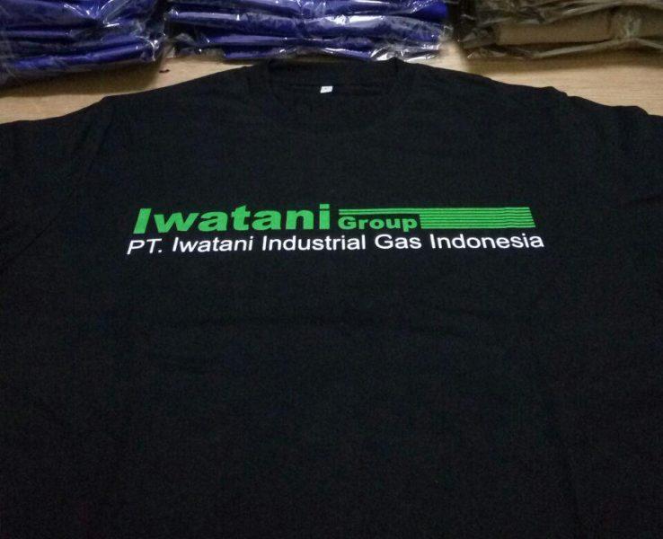 Kaos Cotton Combed Hitam Iwatani Group