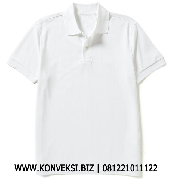 Kaos Polo Berkerah Putih Polos