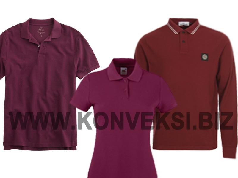 Kaos Polo Berkerah Burgundy – Merah Marun