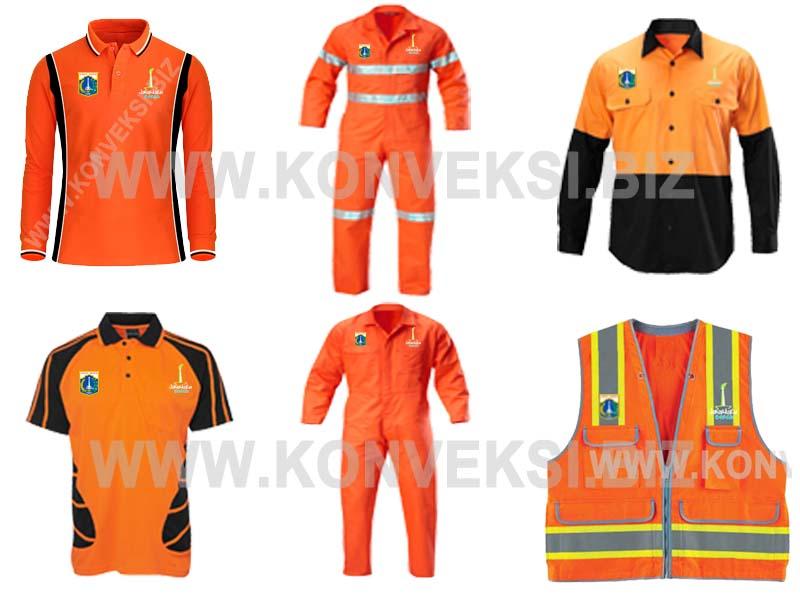 Pakaian Dinas Lapangan Pemprov DKI Jakarta – Pasukan Orange