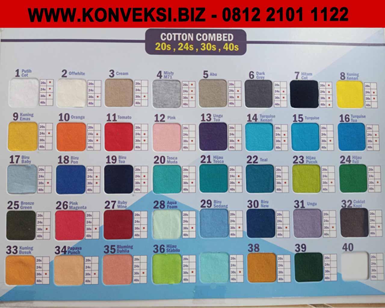 Katalog Warna Cotton Combed Terbaru