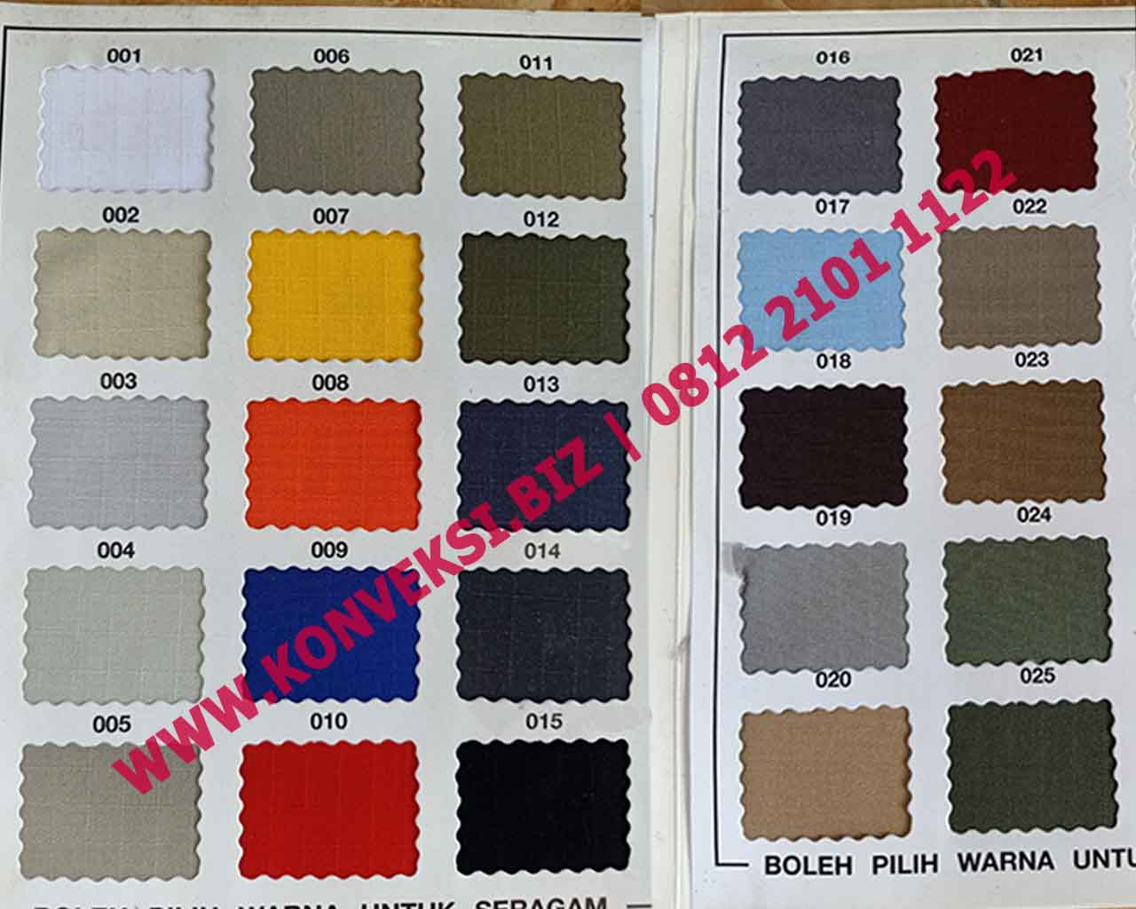 Katalog Warna Kain Ripstop