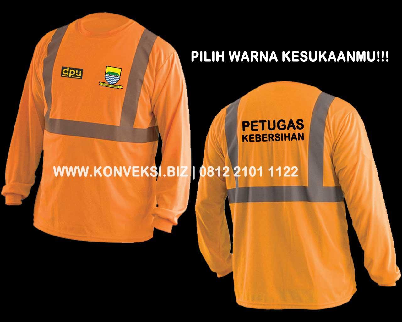 Kaos Lapangan Orange Seragam K3