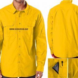 Kemeja Tactical Kuning Tua Lengan Panjang