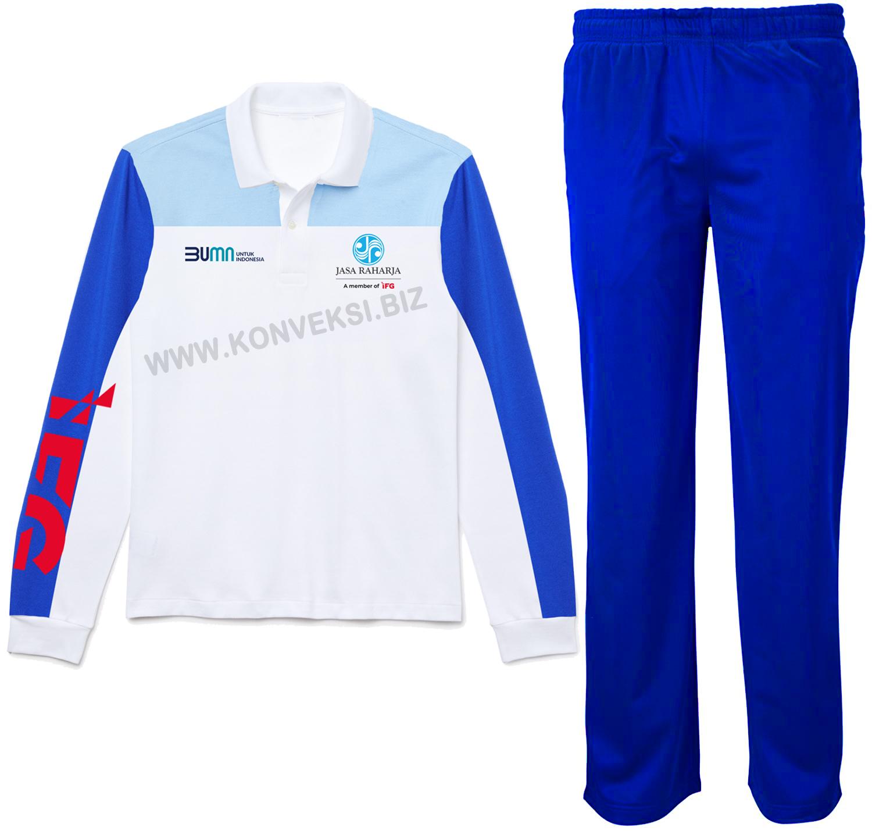 Seragam Olahraga Jasa Raharja Kaos Celana Training