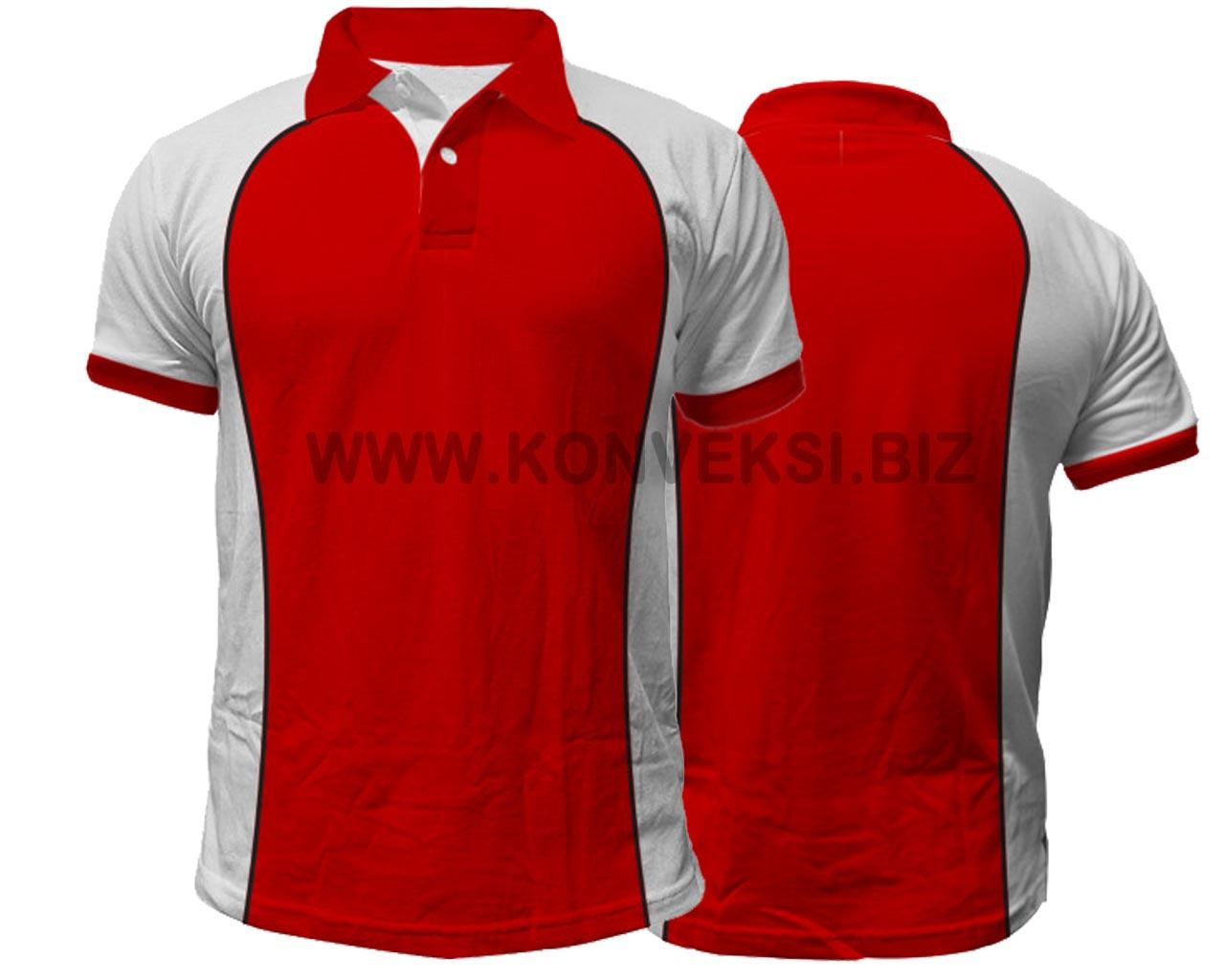 Kaos Kerah Merah Putih Desain Keren