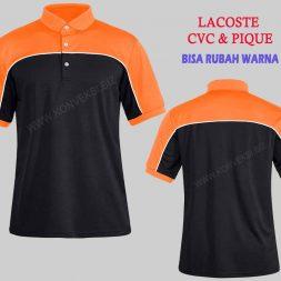 Kaos Kerah Orange Hitam Desain Keren