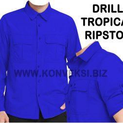 Baju PDL Biru Desain Keren